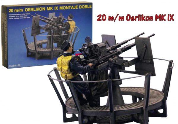 Cannon Oerlikon MK IX 20mm and Artillery Operator