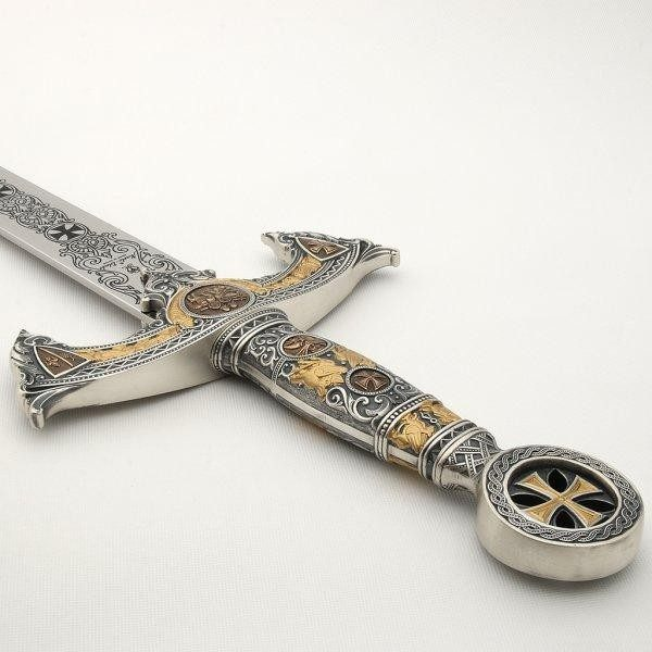 Knights Templar Sword Silver