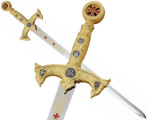 Knights Templar Sword Gold
