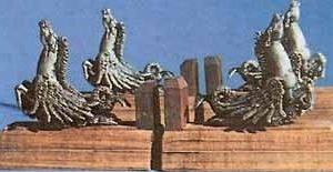 Pegasus Brass-Plated Display Set