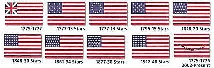 Rev. & US - Flag Set - 5/8 x 1