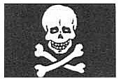 Jolly Roger Flags - 1-5/8 x 7/8