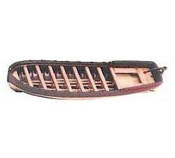 """Cast Metal & Wood Longboat - 2-3/4"""" (70mm)"""