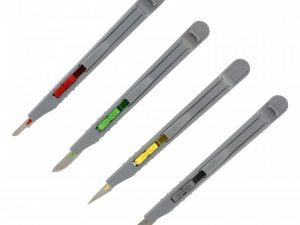 4 Pce Retractable Safety Knife Set