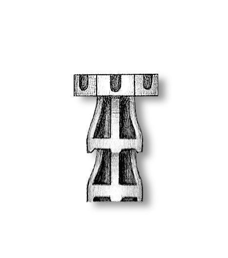 Metal Capstans 18mm