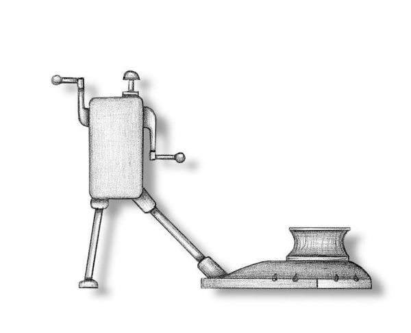 Metal Windlass 35x35mm