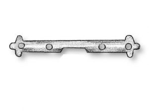Hinges for Gun Ports - with pin