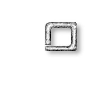 Square Rings Brass 2.5mm
