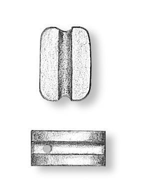 Walnut Simple Block 3mm