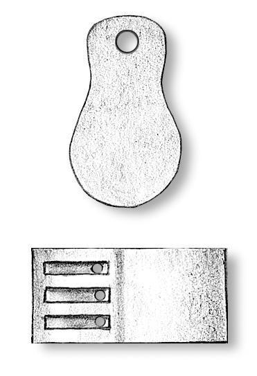 Triple Fiddle Blocks 10mm