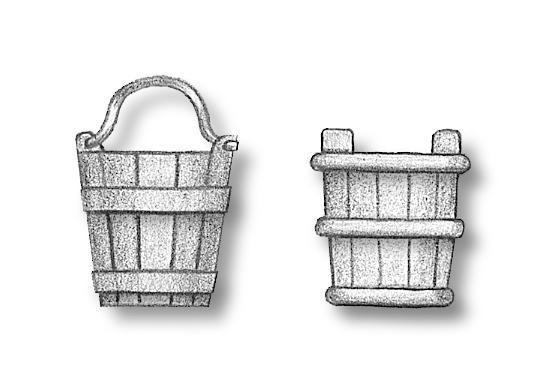 Wooden bucket 12mm