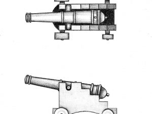 Cannons with Carriage 40mm