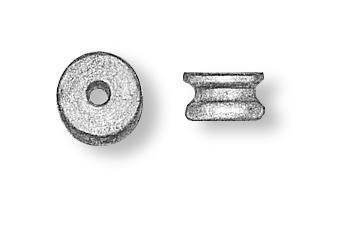 Wooden Sheaves (Pulleys) Diameter 2.5mm (20)