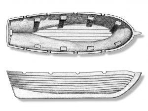 Plastic Wood Lifeboat 100mm