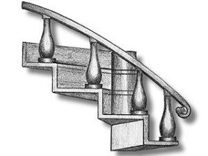 Metal Bent Ladder Left