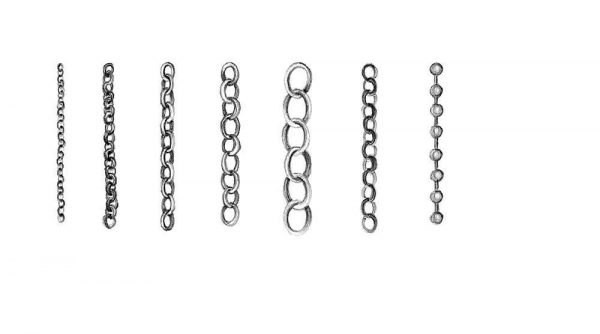 Brass Chain Type E 3.5mm
