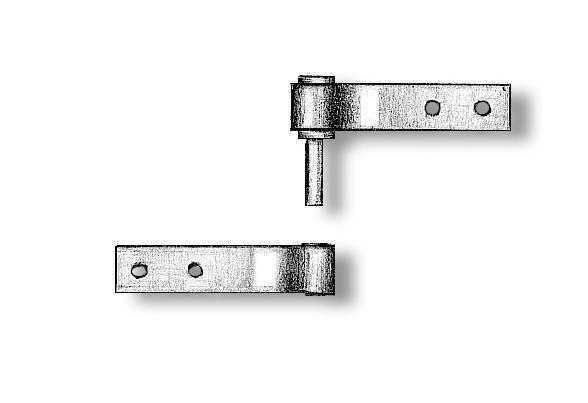 Welded Rudder Hinges 3mm