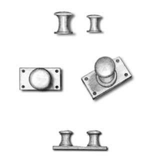 Metal Twin Bollards with Base Type E 8mm