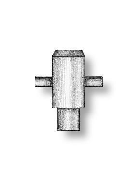 Simple Brass Cross Bollards 4mm