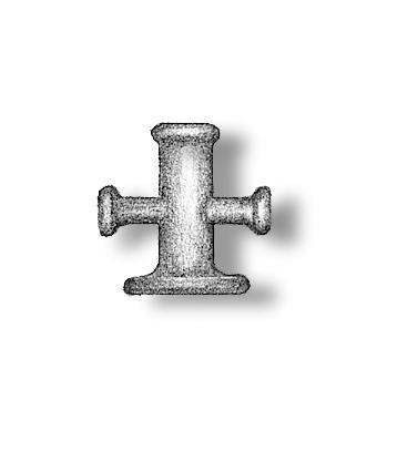 Metal Cross Shaped Bollards 7mm