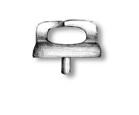 Nickel-plated Double Chocks 10x8mm