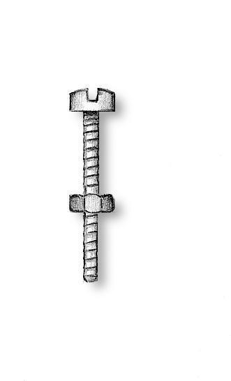 Brass Screws Exagonal Nuts 2x14mm