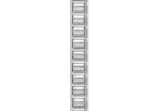 Metal Ladders 4x100mm