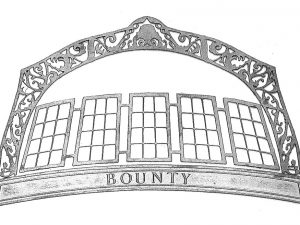 Bounty Sternboard Photoetched Brass