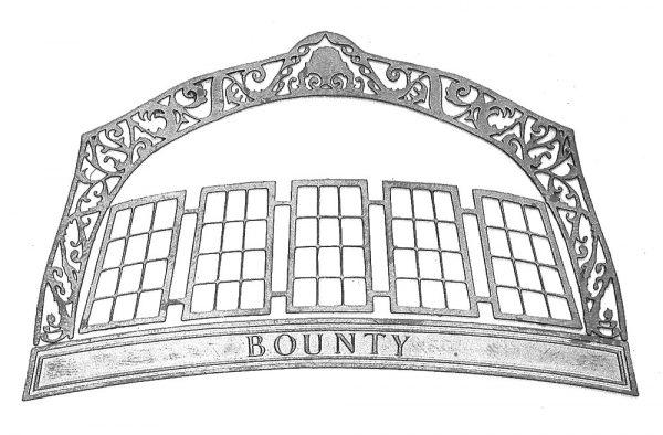 Bounty Sternboard Photoetched Brass