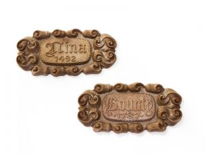 HMS Victory Metal Name Plates 34x6.5mm