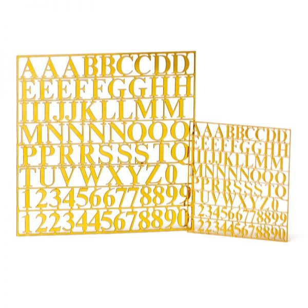 Brass Photoetched Letters and Numbers 6mm