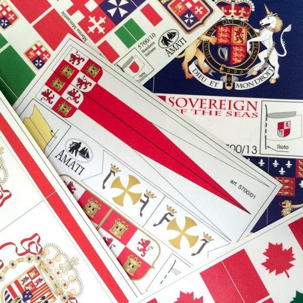 Great Britain flag set c. 1700-1800