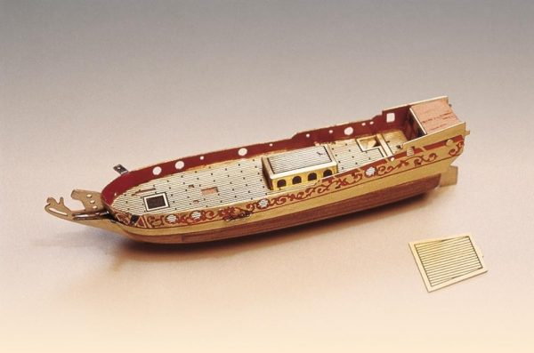 Golden Yacht Ship in a Bottle Kit