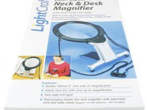 Dual Purpose Neck & Desk Magnifier