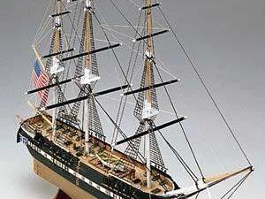 Mini Mamoli wood ship kit USS Constitution