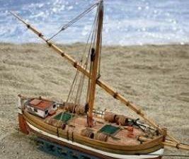 Mini Mamoli wood ship kit Leudo