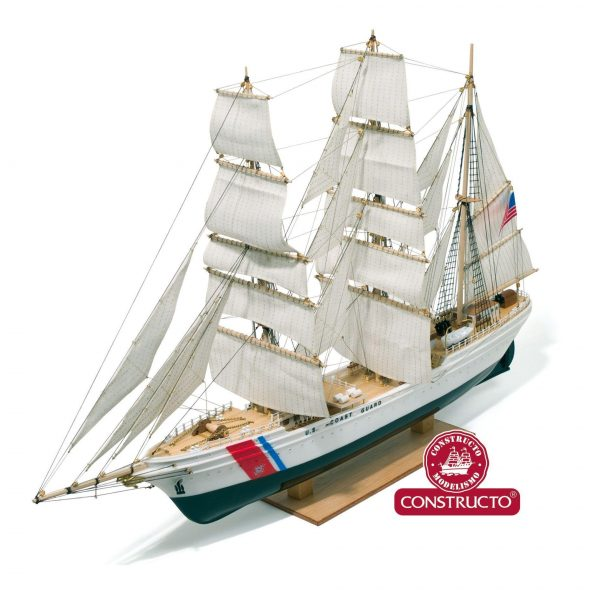 Eagle, U.S. Coast Guard Training Ship, pre-painted plastic hull ship model kit