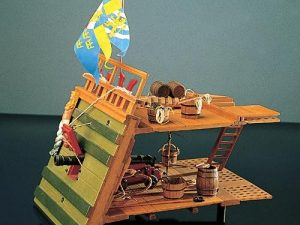 Wasa Gun Deck Section- wooden model kit