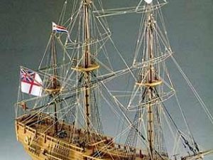 HMS Endeavour wooden ship model kit