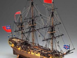 HMS Greyhound wooden ship model kit