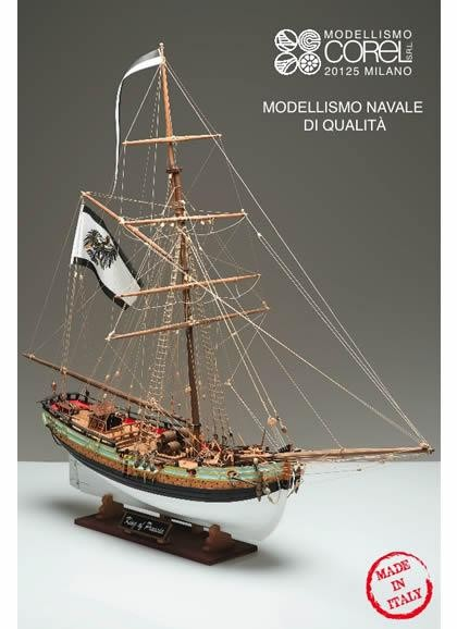 King of Prussia wooden ship model kit