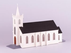 Saint Teresa of Avila, Church at Bodega, CA, wooden model kit