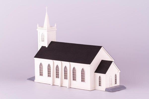 Saint Teresa of Avila, Church at Bodega, CA, wooden model kit