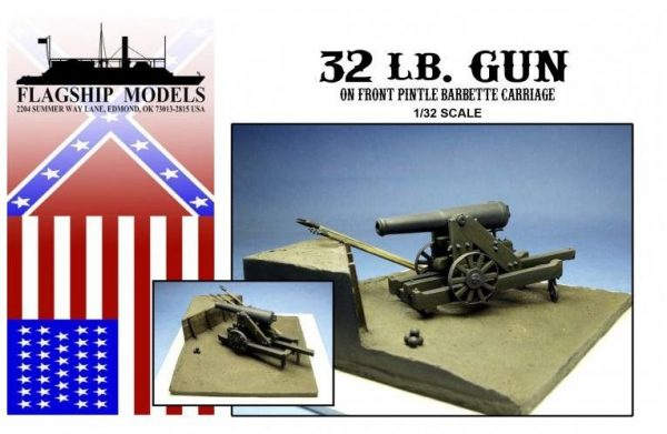 32 lb Gun on Front Pintle Carraige (Base 6x 6)