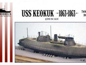 USS Keokuk Twin Turret Ironclad Ram (9.75 long)