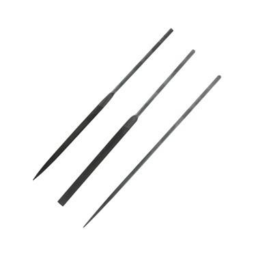 Set of 3 Precision Needle Files Set Swiss Style