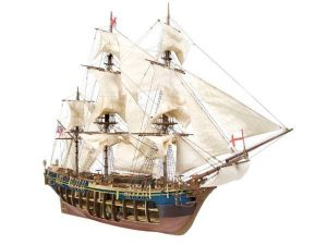 HMS Bounty with Cutaway Hull