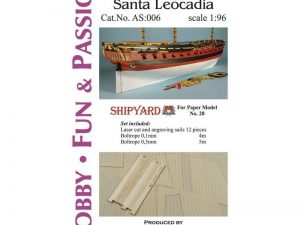 Santa Leocadia - Studding Sails 1:96