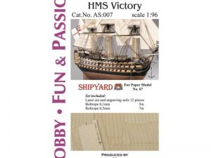 HMS Victory - Studding Sails 1:96