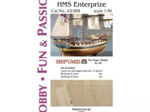 HMS Enterprize - Studding Sails 1:96